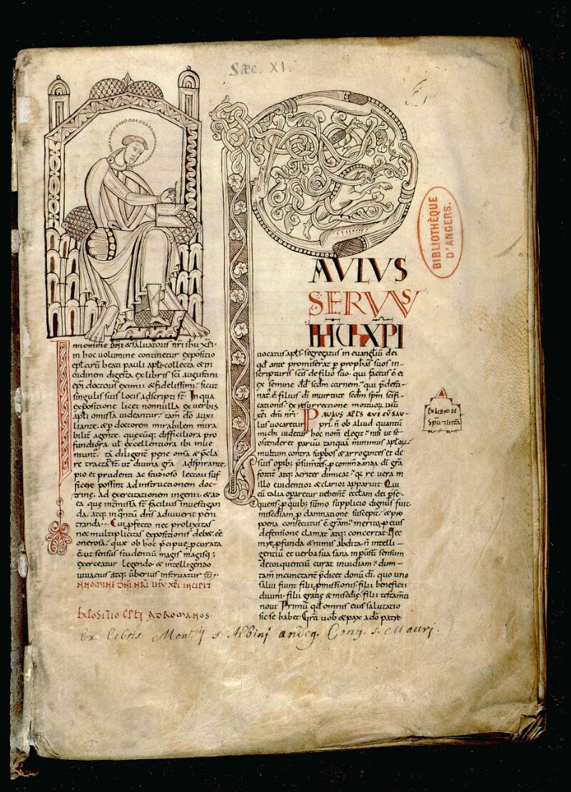 Angers, Bibl. mun., ms. 0065, f. 001 - vue 2