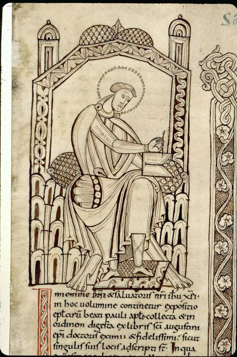 Angers, Bibl. mun., ms. 0065, f. 001 - vue 3