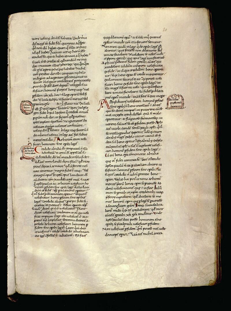 Angers, Bibl. mun., ms. 0065, f. 020 - vue 1