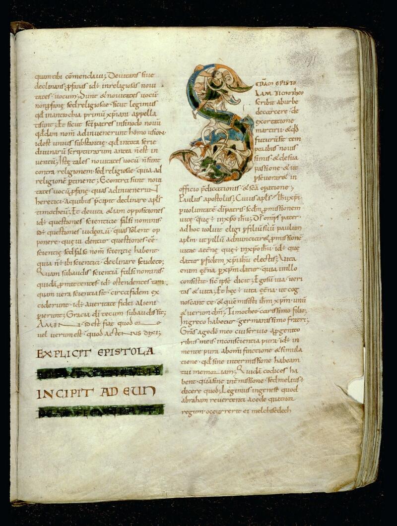 Angers, Bibl. mun., ms. 0067, f. 195 - vue 1