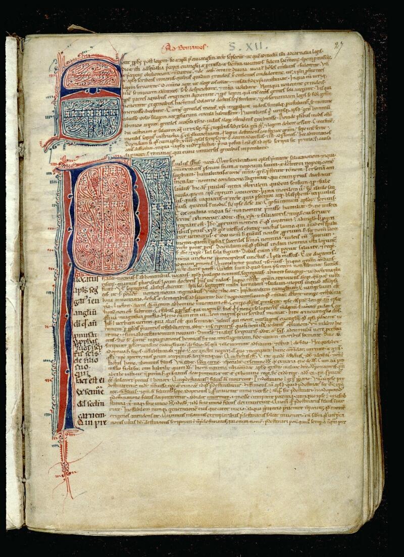 Angers, Bibl. mun., ms. 0068, f. 027 - vue 2