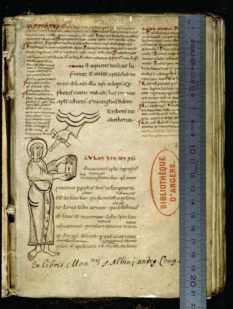 Angers, Bibl. mun., ms. 0071, f. 001 - vue 1