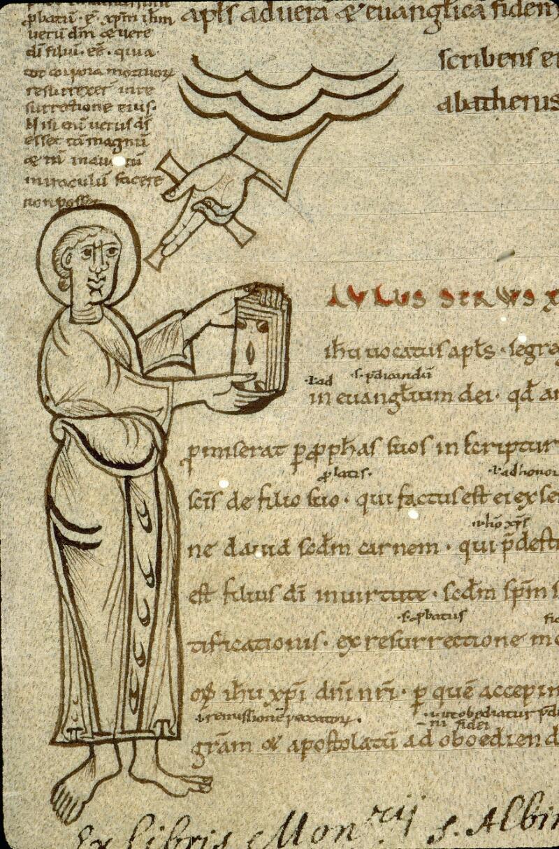 Angers, Bibl. mun., ms. 0071, f. 001 - vue 3