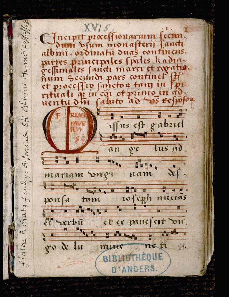 Angers, Bibl. mun., ms. 0081, p. 001 - vue 2