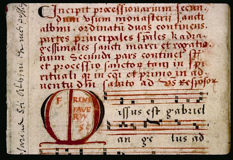 Angers, Bibl. mun., ms. 0081, p. 001 - vue 3