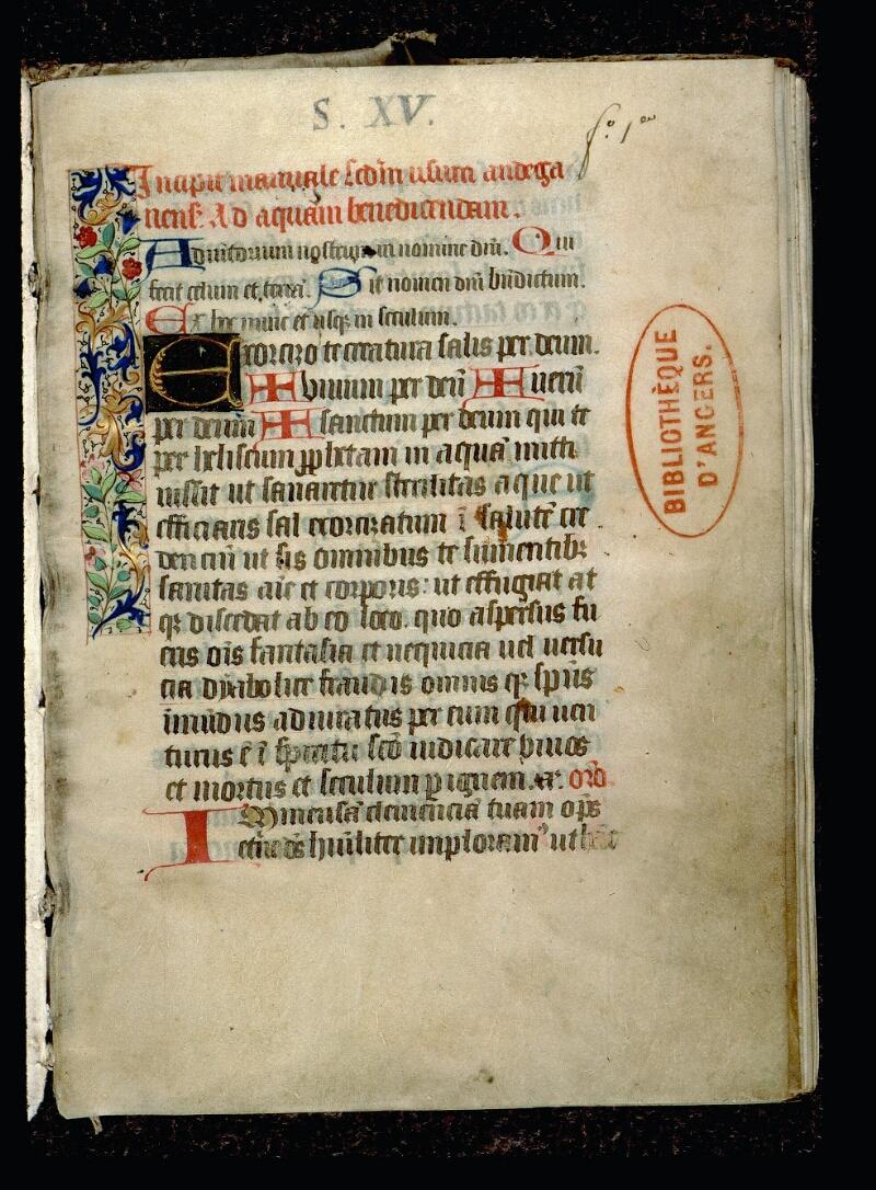 Angers, Bibl. mun., ms. 0083, f. 001 - vue 2