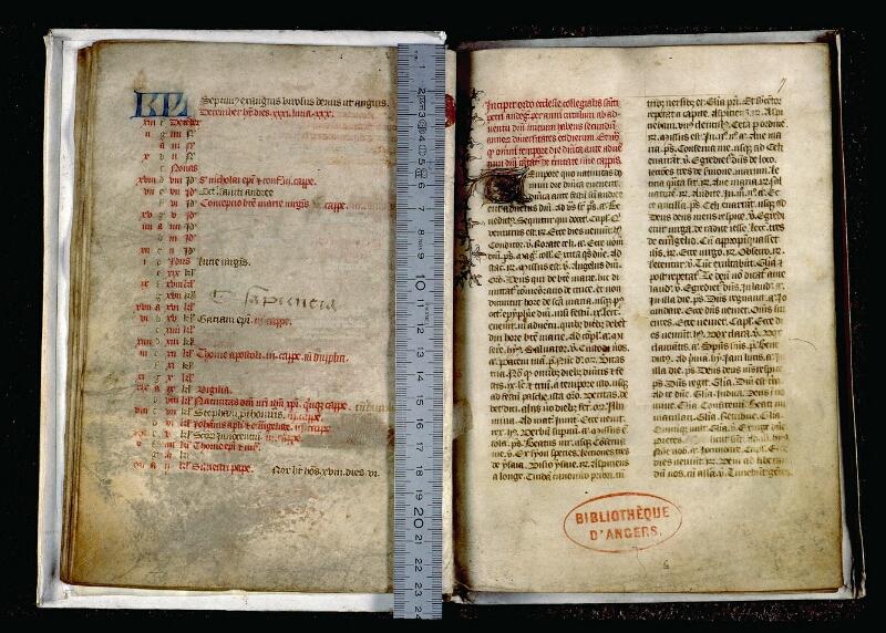 Angers, Bibl. mun., ms. 0085, f. 006v-007 - vue 1