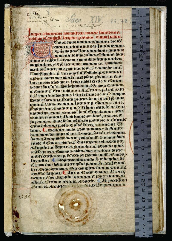 Angers, Bibl. mun., ms. 0086, f. 001 - vue 1