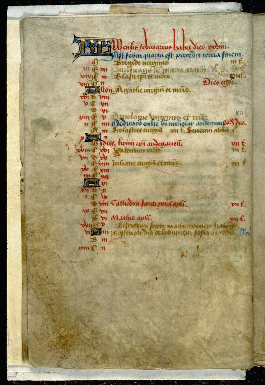Angers, Bibl. mun., ms. 0089, f. 000I v - vue 2