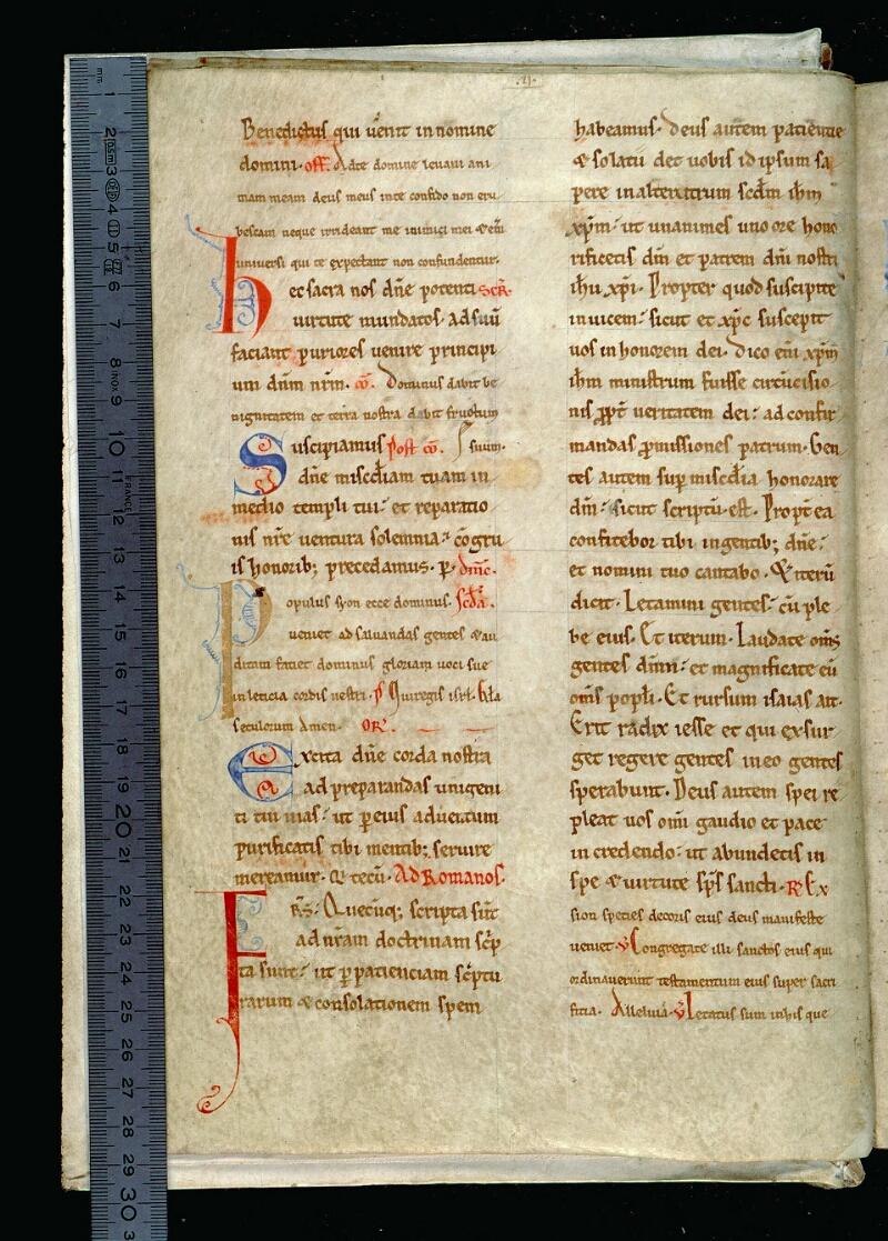 Angers, Bibl. mun., ms. 0093, f. 005v - vue 1