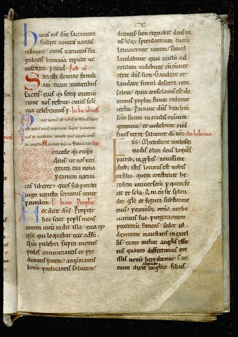 Angers, Bibl. mun., ms. 0093, f. 014 - vue 1