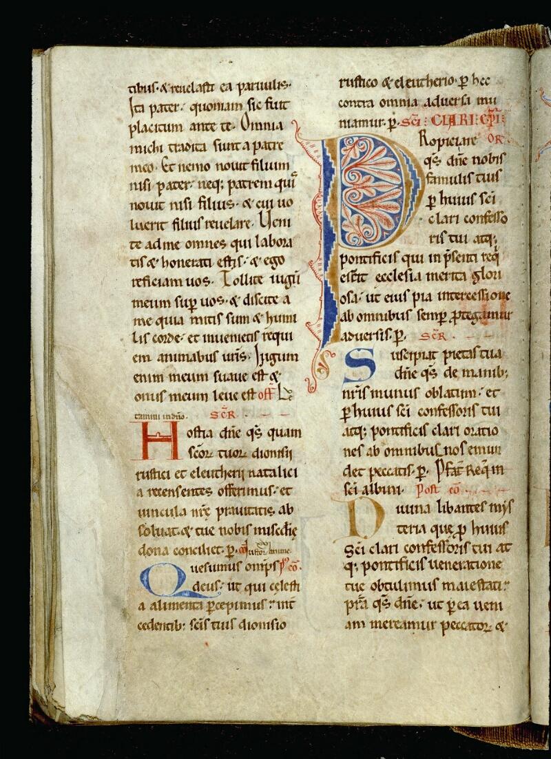Angers, Bibl. mun., ms. 0093, f. 186v - vue 1
