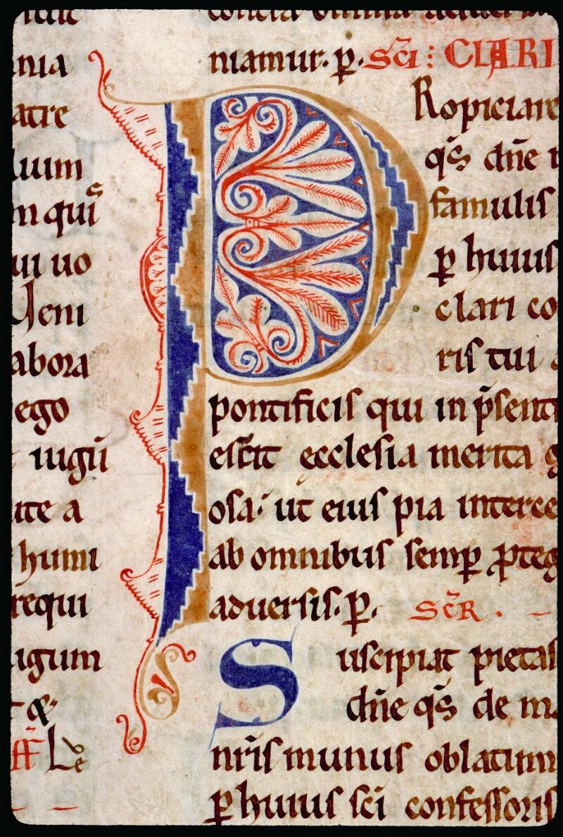 Angers, Bibl. mun., ms. 0093, f. 186v - vue 2