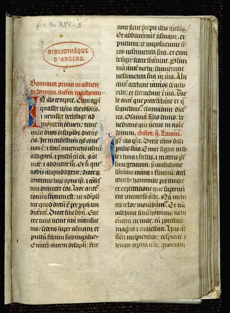 Angers, Bibl. mun., ms. 0101, f. 009 - vue 1
