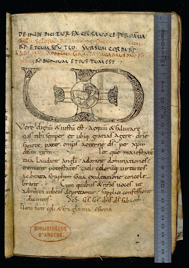 Angers, Bibl. mun., ms. 0102, f. 003 - vue 1