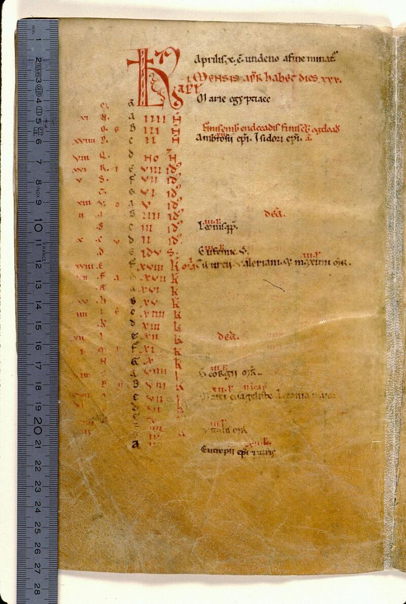 Angers, Bibl. mun., ms. 0103, f. 002v - vue 1