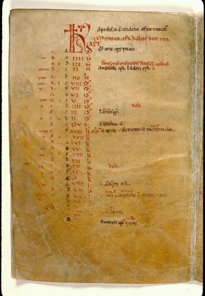 Angers, Bibl. mun., ms. 0103, f. 002v - vue 2