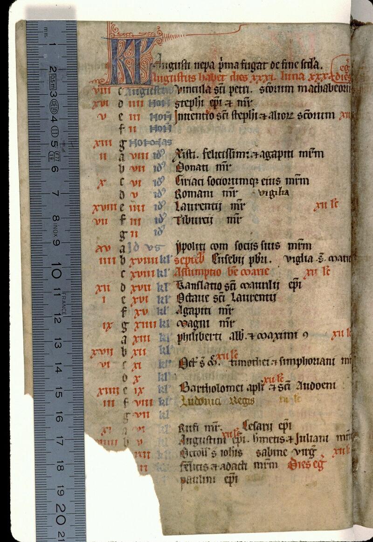 Angers, Bibl. mun., ms. 0104, f. 000IV v - vue 1