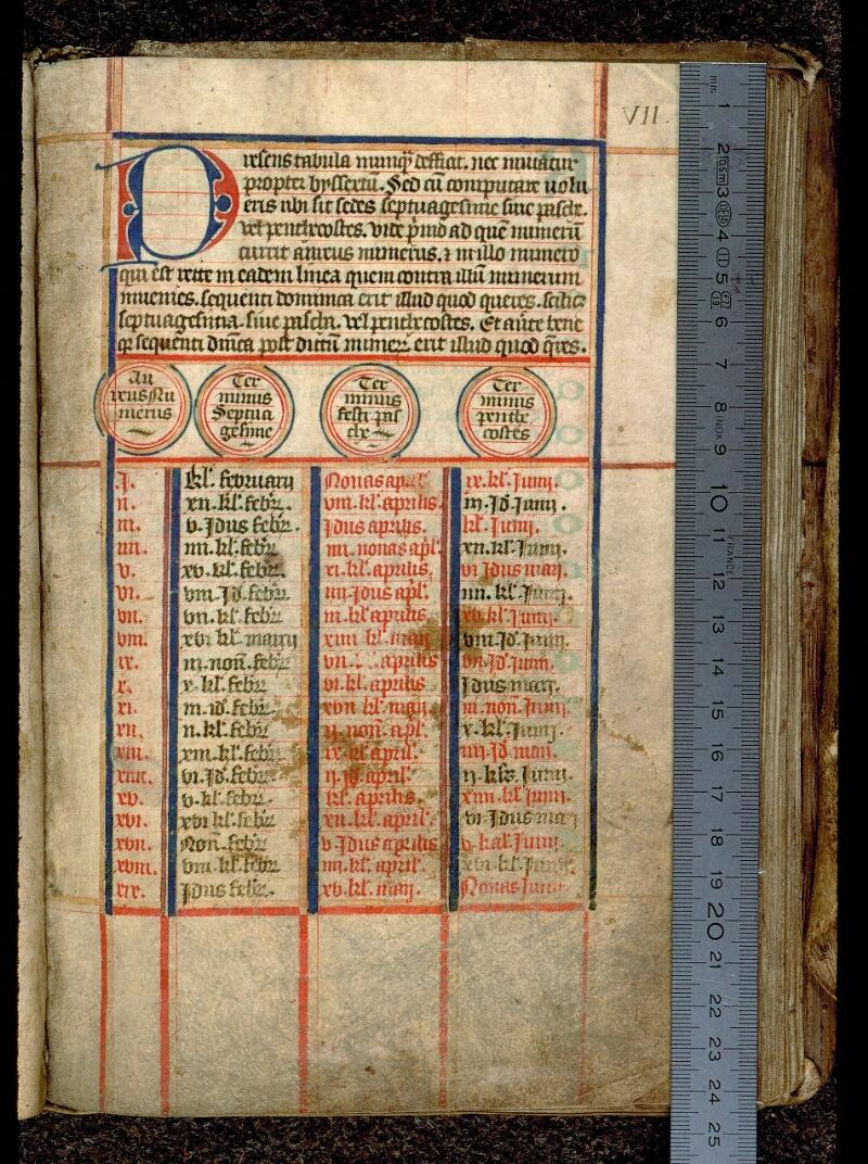 Angers, Bibl. mun., ms. 0106, f. 000VII - vue 1