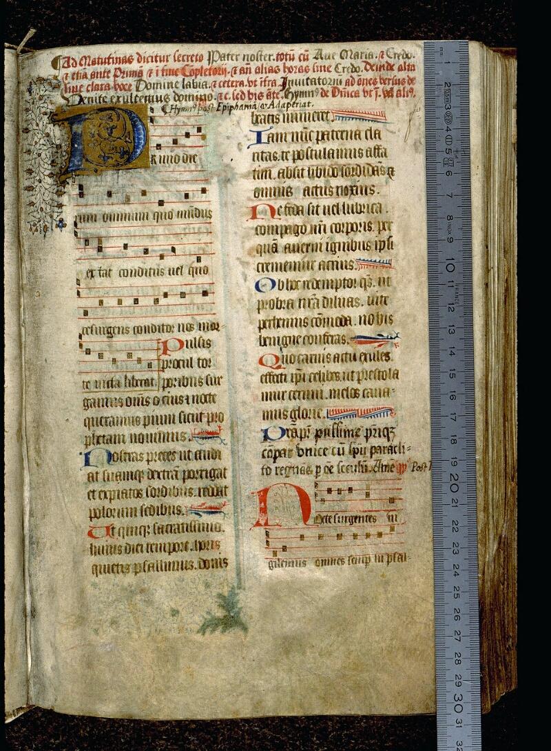 Angers, Bibl. mun., ms. 0113, f. 001 - vue 1