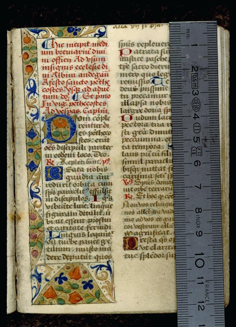 Angers, Bibl. mun., ms. 0116, f. 005 - vue 1