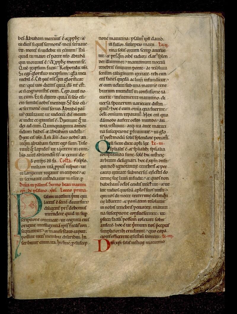 Angers, Bibl. mun., ms. 0122, f. 087 - vue 1