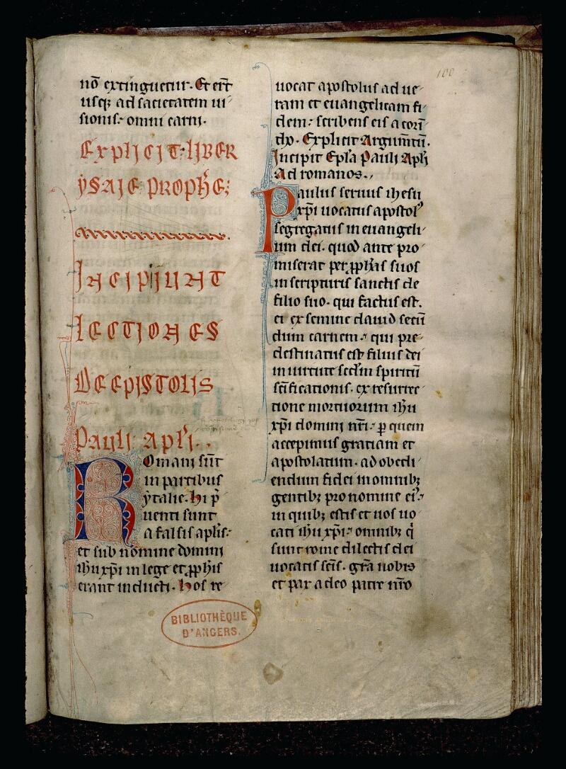 Angers, Bibl. mun., ms. 0124, f. 100
