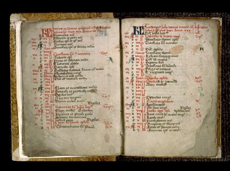 Angers, Bibl. mun., ms. 0125, f. 003v-004 - vue 2