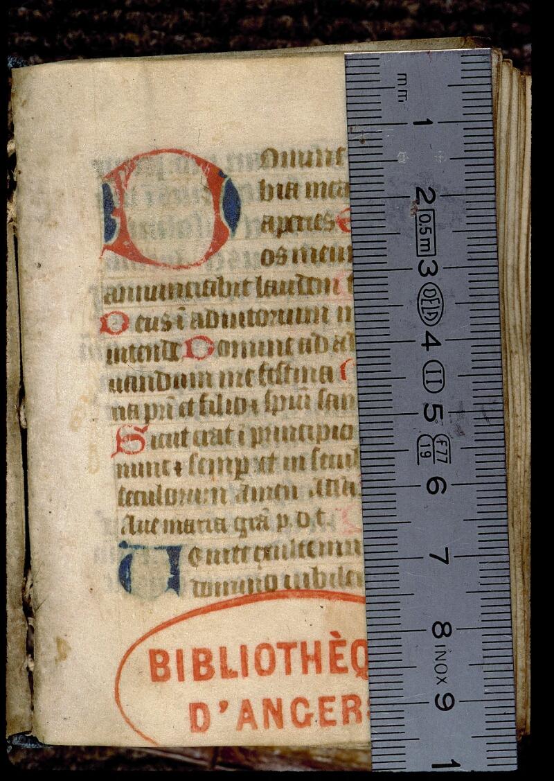 Angers, Bibl. mun., ms. 0126, f. 001 - vue 1