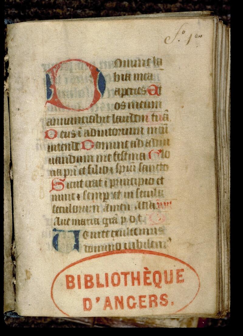 Angers, Bibl. mun., ms. 0126, f. 001 - vue 2