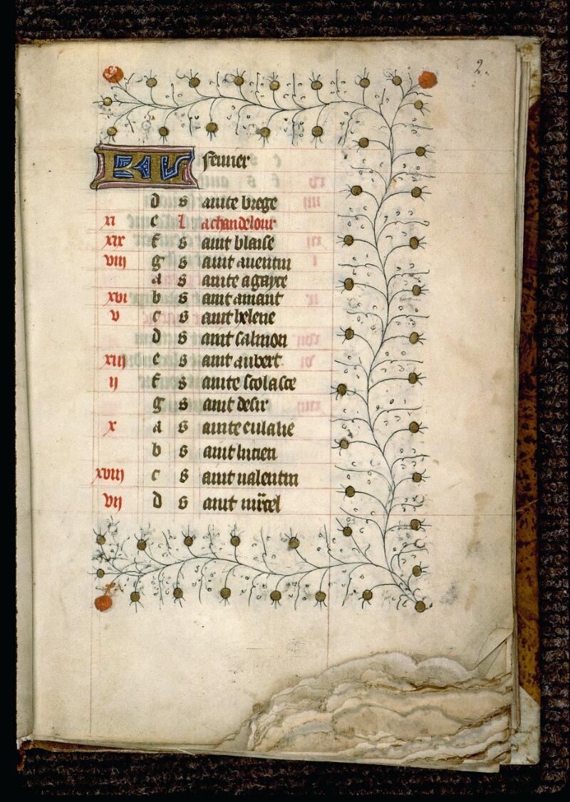 Angers, Bibl. mun., ms. 0127, f. 002 - vue 2