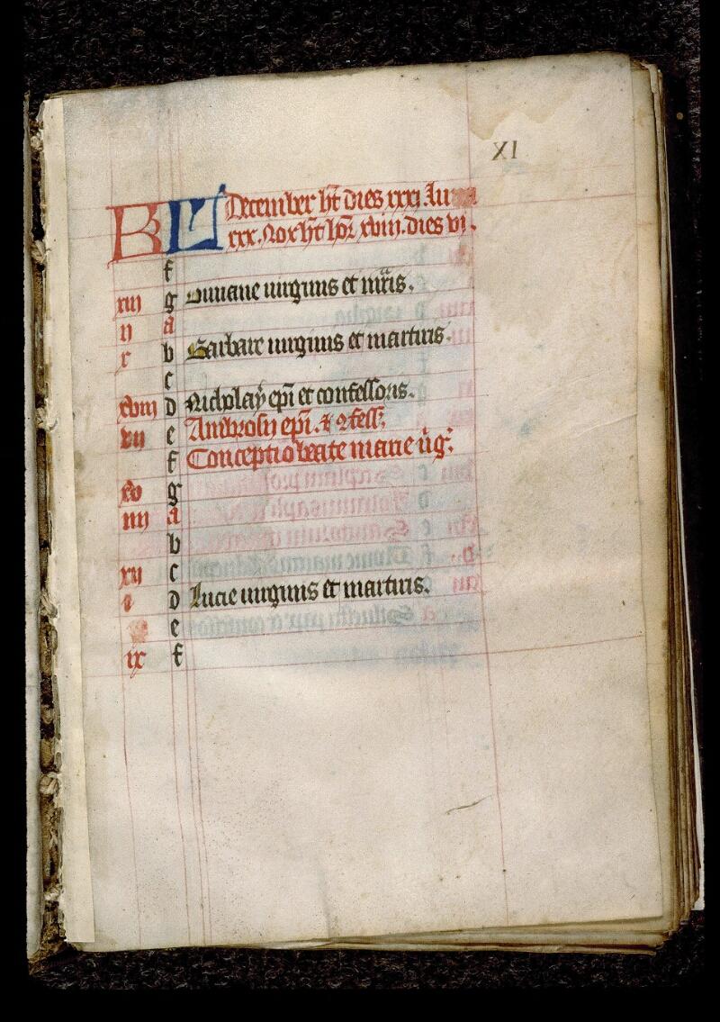 Angers, Bibl. mun., ms. 0128, f. 000XI - vue 2