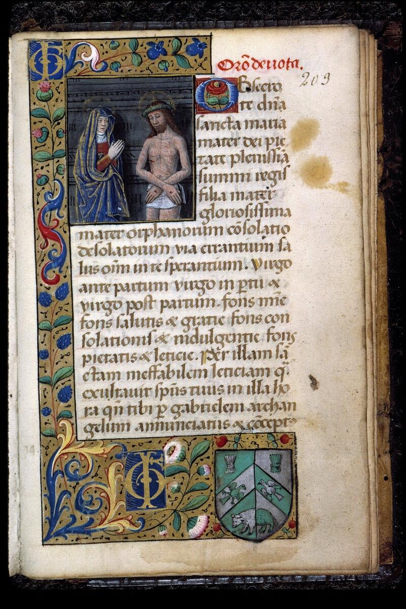 Angers, Bibl. mun., ms. 0130, f. 203 - vue 1