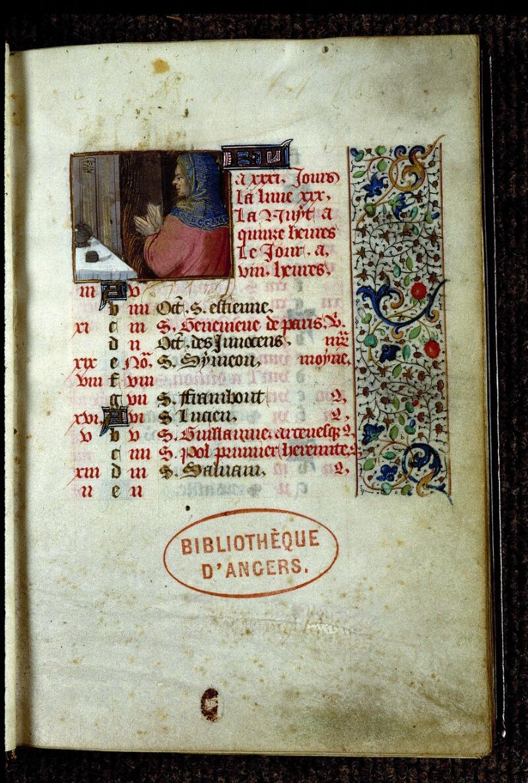 Angers, Bibl. mun., ms. 0134, f. 001 - vue 2