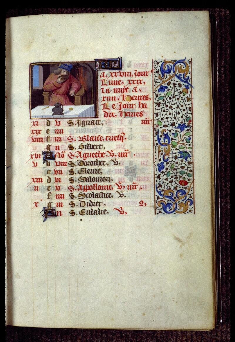Angers, Bibl. mun., ms. 0134, f. 002 - vue 1