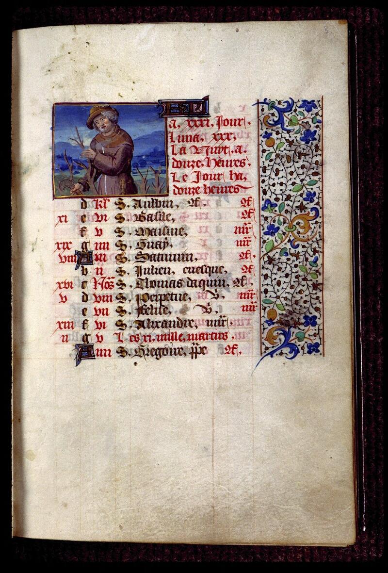 Angers, Bibl. mun., ms. 0134, f. 003 - vue 1