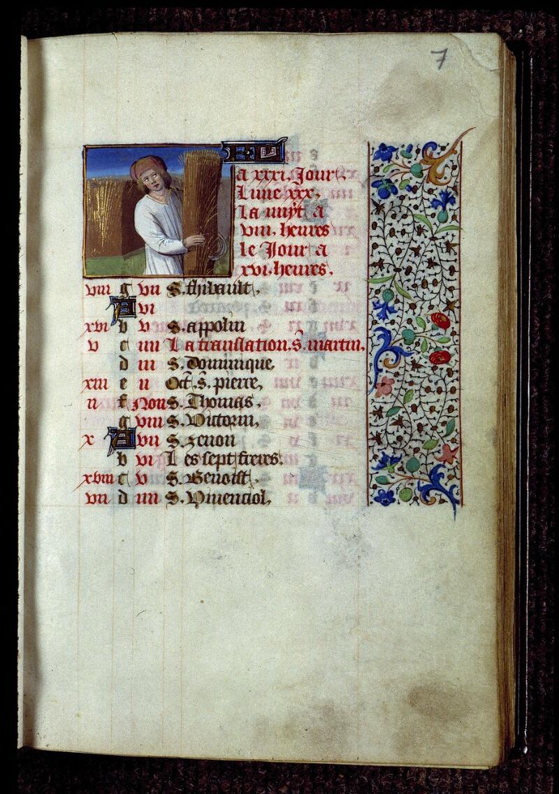 Angers, Bibl. mun., ms. 0134, f. 007 - vue 1