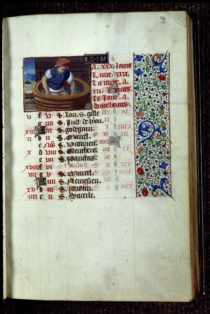 Angers, Bibl. mun., ms. 0134, f. 009 - vue 1
