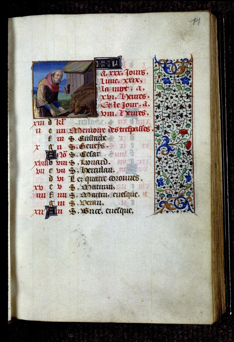Angers, Bibl. mun., ms. 0134, f. 011 - vue 1