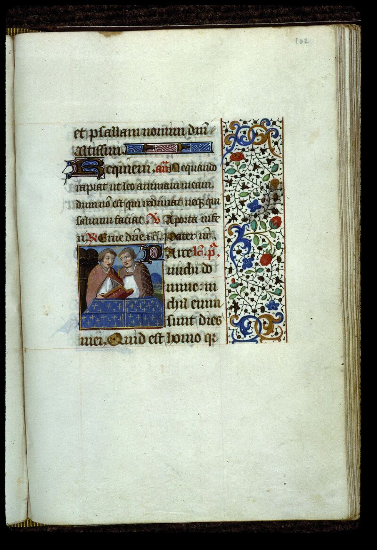 Angers, Bibl. mun., ms. 0134, f. 102 - vue 1