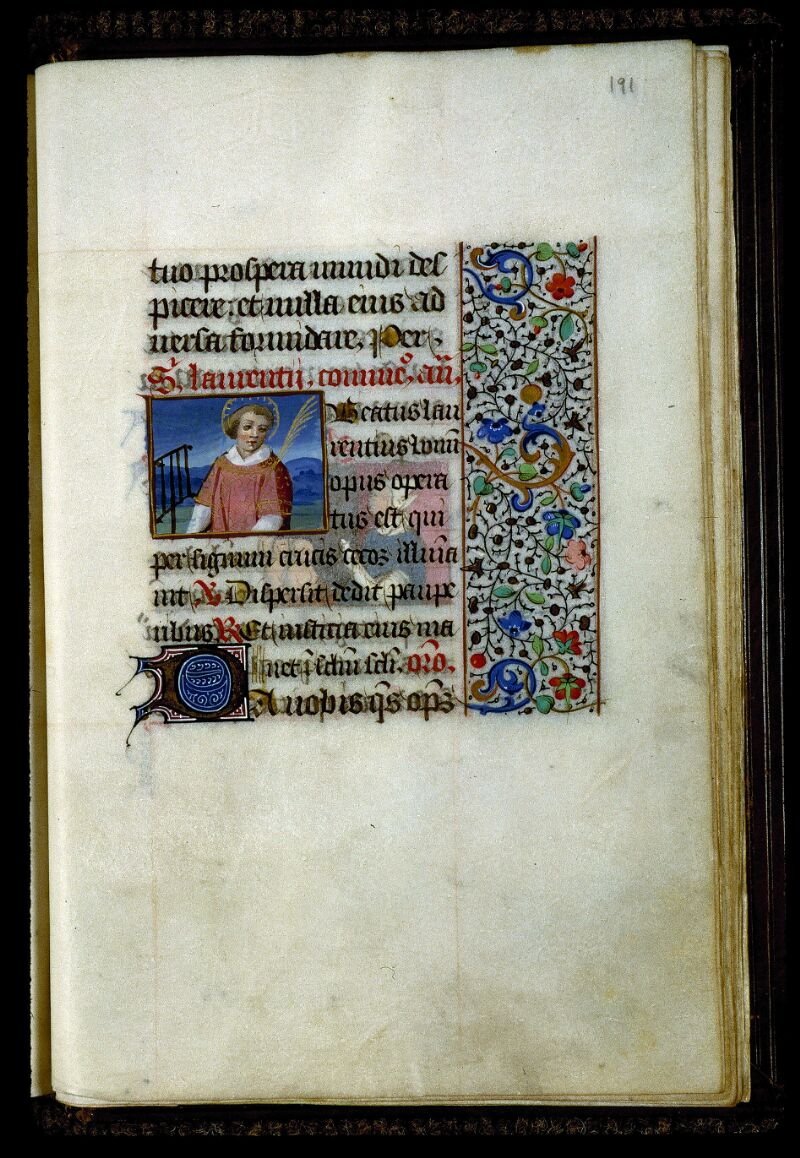 Angers, Bibl. mun., ms. 0134, f. 191 - vue 1
