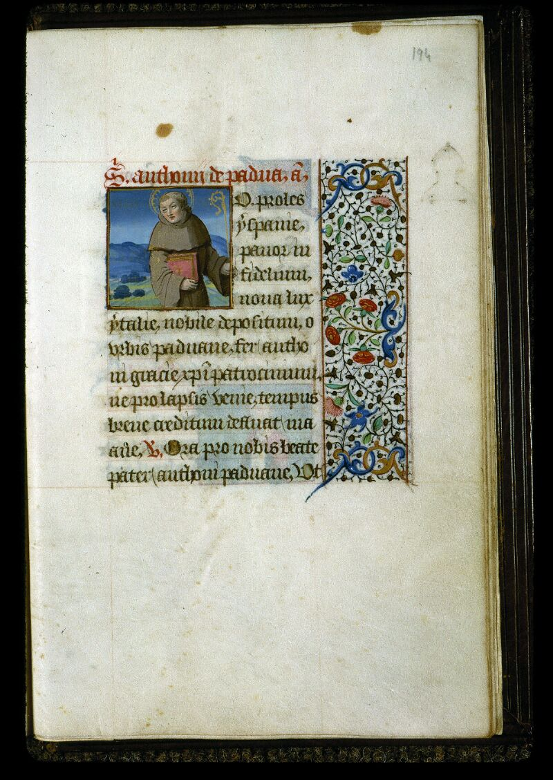 Angers, Bibl. mun., ms. 0134, f. 194 - vue 1