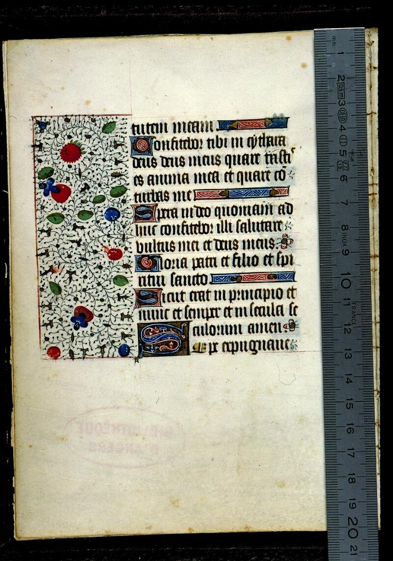 Angers, Bibl. mun., ms. 0135, f. 001v - vue 1