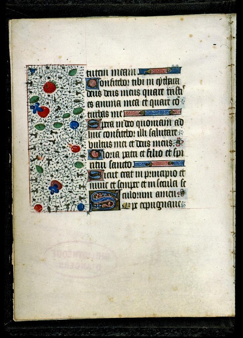 Angers, Bibl. mun., ms. 0135, f. 001v - vue 2