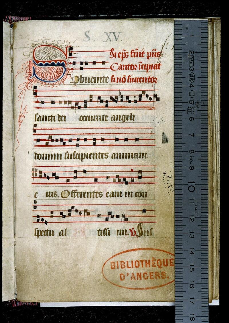 Angers, Bibl. mun., ms. 0141, f. 001 - vue 1