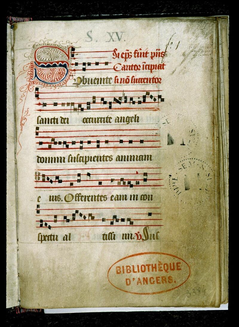 Angers, Bibl. mun., ms. 0141, f. 001 - vue 2