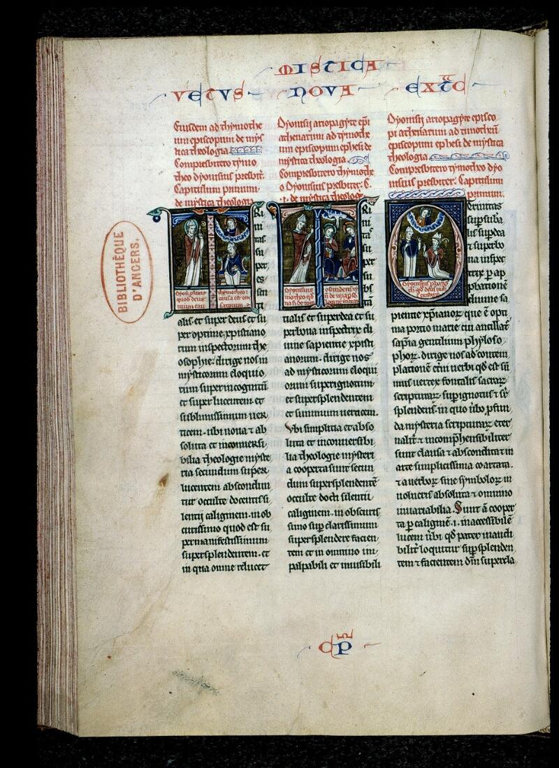 Angers, Bibl. mun., ms. 0142, f. 206v - vue 1