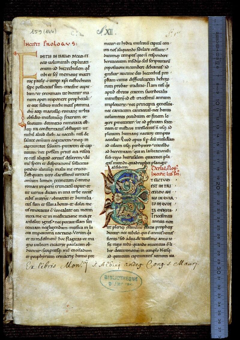 Angers, Bibl. mun., ms. 0152, f. 001 - vue 1