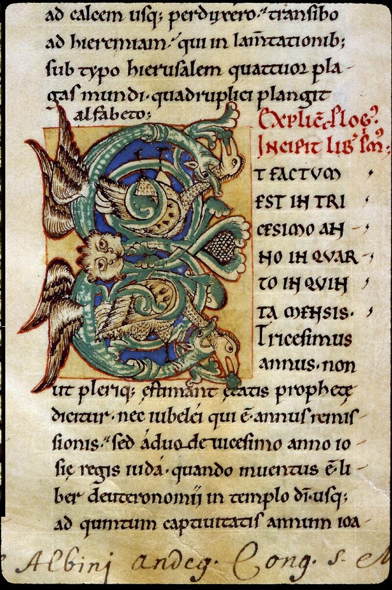 Angers, Bibl. Mun., ms. 0152, f. 001 - vue 3