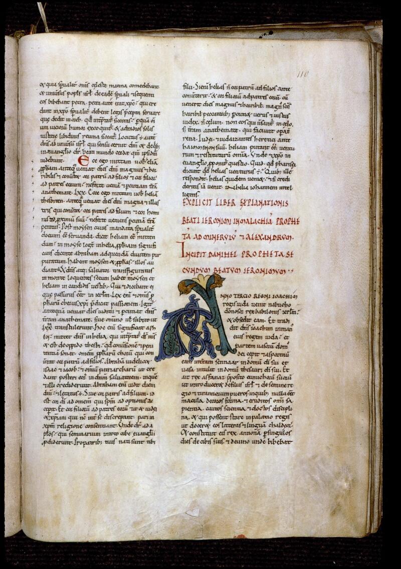 Angers, Bibl. mun., ms. 0153, f. 110 - vue 1